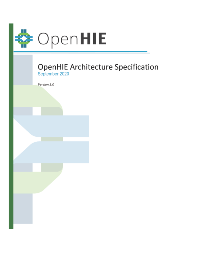 OpenHIE Architecture Specification